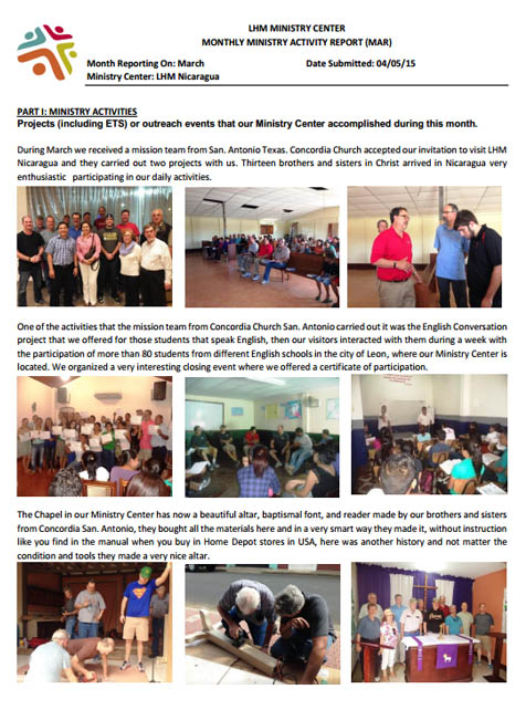 3 March Newsletter- LHM Nicaragua